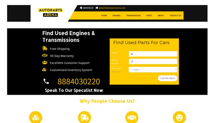 Auto Parts Arena Website